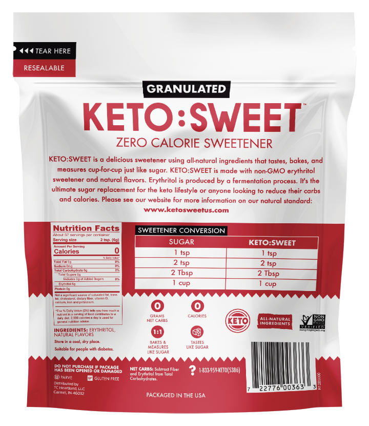 Keto Sweet-Granulated-Pouch-12oz-Back